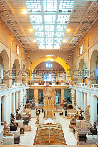 The main hall in the egyptian museum