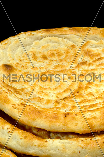 fresh just made traditional uzbek bread close up