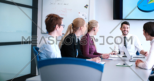 Business Partners Meeting In Modern Office
