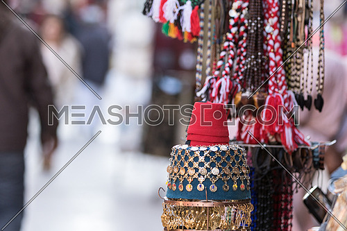 Souvenirs sold in Aswan market