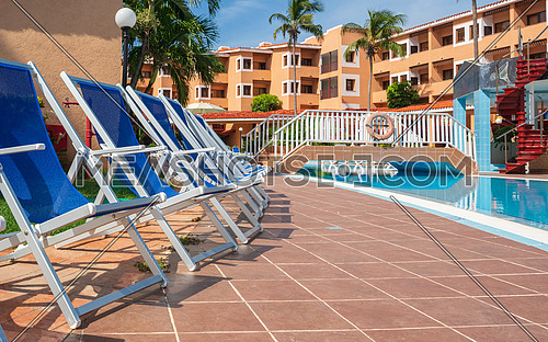 Exterior of luxury hotel, picture taken during the morning, Cuba Varadero.