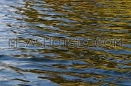 Colorful yellow, red, orange and blue ripples and waves running on water surface, moving flow background, Full HD 1080