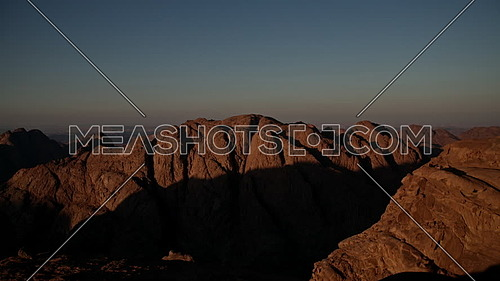 Timelapse for sunset from Sinai Mountain