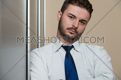Portrait Of A Handsome Casual Businessman Smiling