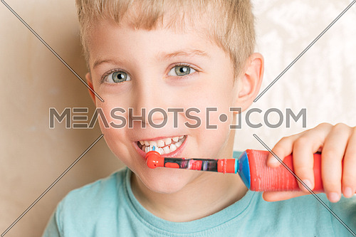 little baby boy with tooth brush,kid boy smiling happiness,dental hygiene and health for children,close up.