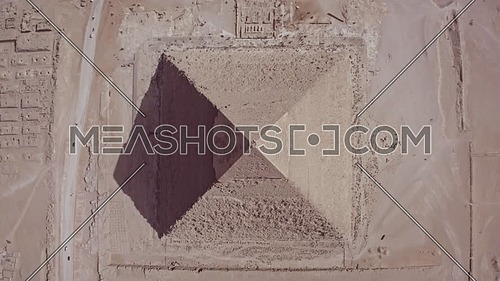 Lift off top Shot Drone for the pyramid of Khafre  in Giza at day