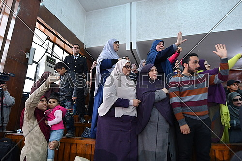 Muslim Brotherhood People During court at 'Borders Break' case in front - December 2018.