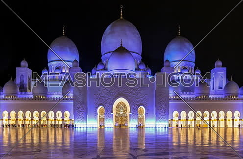 Sheikh Zayed Mosque Timelapse by night