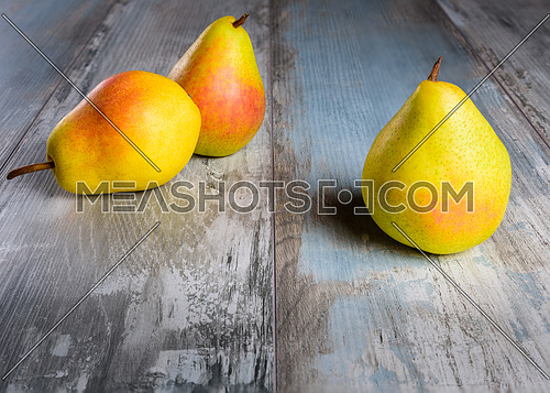 Pears on an old wooden