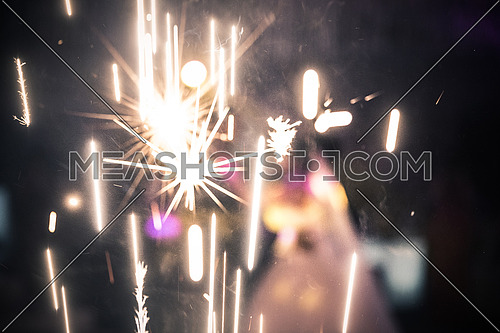 sparks from fire crackers