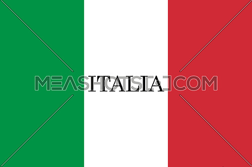 Italy Flag. Official colors and proportion. National Flag of Italy illustration