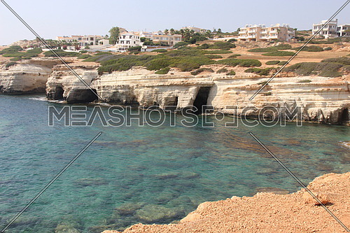 rocky sea shore in Cyprus