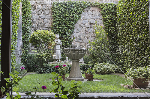 AVILA, SPAIN - august 2015, 11: Inside the convent of Santa Teresa, Inside the convent of Santa Teresa, small interior garden, where she used to play of small, Avila, Spain, Avila, Spain