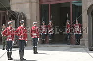 Sofia, Bulgaria,31 March, 2016 - Change of guards at the office of Bulgaria's President.