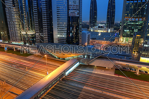 Metro Station in Sheikh Zayed road dubai, shot on 27 Mar 2016