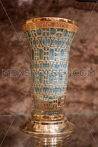 a gold plated blue Vase