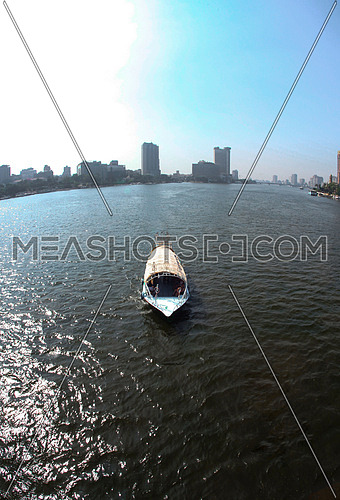 nile bus in the river nile cairo, Egypt