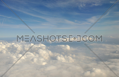 beautiful landscape outdoor in nature with white clouds