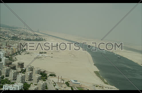 Ariel Shot for New Suez Canal at day.