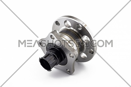 Rear wheel hub assembly isolated on white background