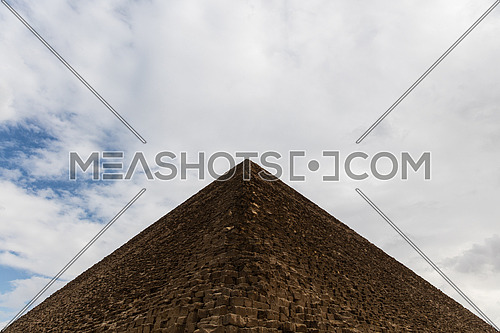 The View of the Giza Pyramids in Egypt.