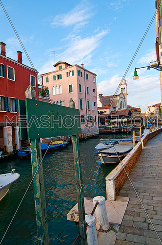 unusual pittoresque view of Venice Italy most touristic place in the world still can find secret hidden spots