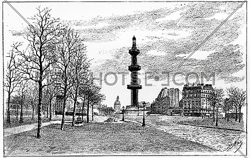 The artesian well Grenelle, vintage engraved illustration. Paris - Auguste VITU – 1890.