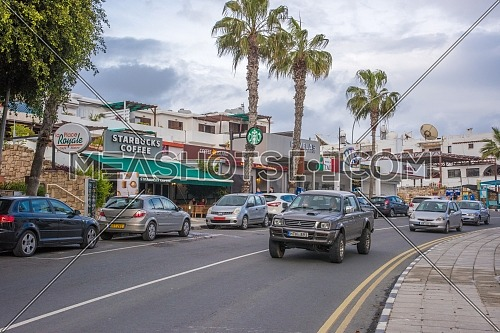 A street in Paphos city in Cyprus