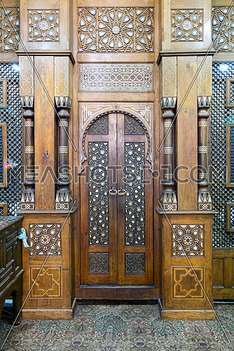 Door of the Shrine of Sheikh Ali Abu El-Shebak, Al-Refai Mosque, Cairo, Egypt