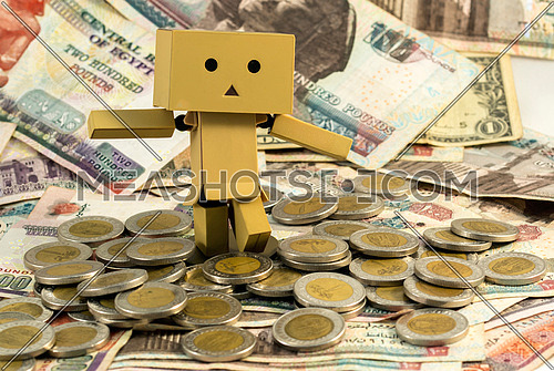 doll on money
