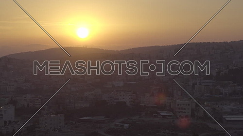 Gorgeous sunset view of Nazareth from hill of the Precipice