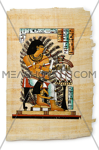 Egyptian papyrus as a background