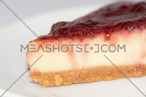 cheese cake Dessert with strawberry topping