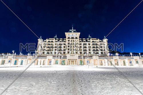 Shahdag - FEBRUARY 27, 2015: Tourist Hotels  on February 27 in Azerbaijan, Shahdag. Shahdag has become a popular tourist destination for skiing in Azerbaijan.