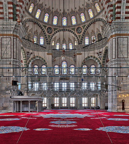 Istanbul, Turkey - April 25, 2017: Fatih Mosque, a public Ottoman mosque in the Fatih district
