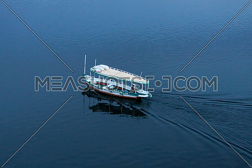 a boat in the River Nile