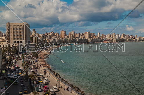 Fixed panorama shot for alexandria city at Day