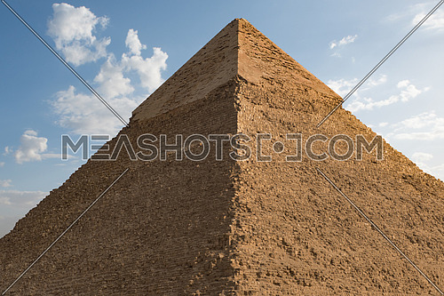 One of the great pyramids of giza Egypt with sky and clouds
