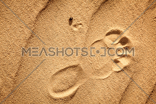 Foot Mark on wavy sand