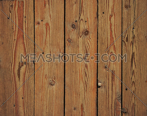 Old vintage rustic aged antique wooden sepia panel with vertical gaps, planks and chinks