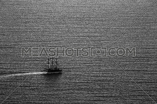 a ship sailing in the sea