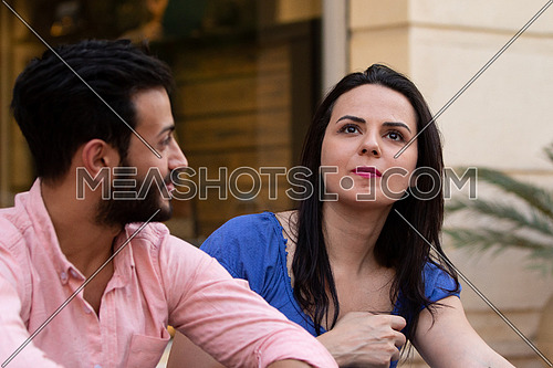 male and female couple spending time together outdoors