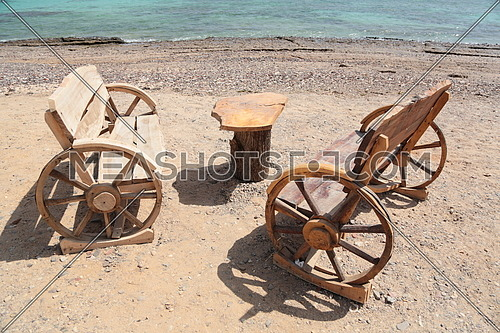 beach outdoor wooden furniture