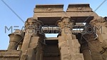 Track Shot The Temple of Kom Ombo - Aswan, Egypt. by day