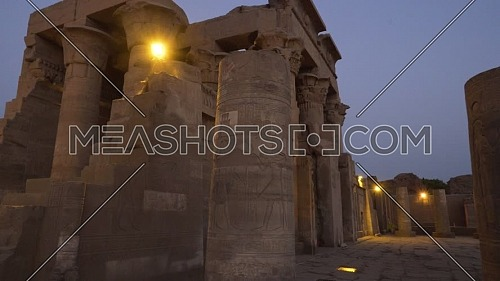 Track out Shot for The Temple of Kom Ombo - Aswan, Egypt. by dawn