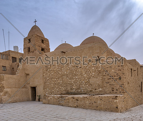 Church of St. Michael, Monastery of Saint Paul the Anchorite (Monastery of the Tigers), dates to the fifth century AD and located in the Eastern Desert, near the Red Sea mountains, Egypt