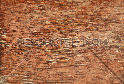 Close up background texture of weathered grunge red brown painted wooden surface