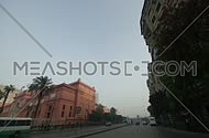 Car driving point of view  moving Around Cairo streets  in Nov 2010