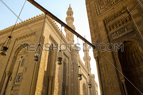 Outside view of El Refaie mosque from the gate of El Sultan Hassan mosque