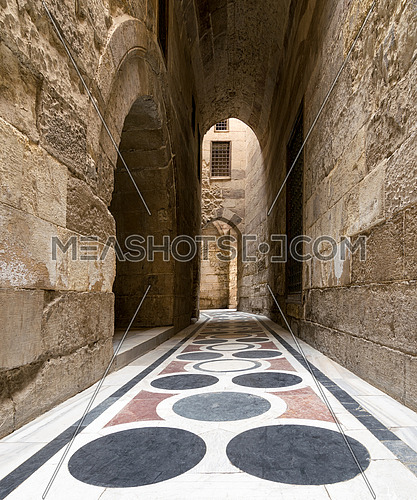 The passage leading to the Courtyard of Sultaan Qalawun mosque, Old Cairo, Egypt